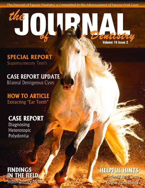 Journal of Equine Dentistry - Volume 16 Issue 2