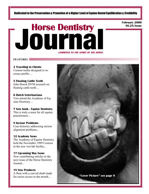 Journal of Equine Dentistry - 2000 February