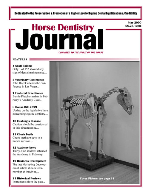 Journal of Equine Dentistry - 2000 May